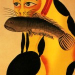 Cat with Fish, Calcutta, THE CAT IN THE ART OF THE DARK AGES