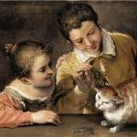Two Children Teasing a Cat Annibale Carracci 1590 Metropolitan Museum of Art