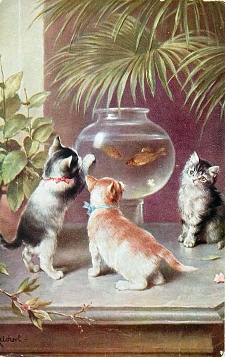 cats in 19th century art