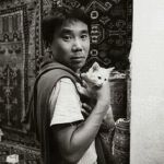 Haruki Murakami with cat, cats and writers