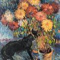Nikolai Aleksandrovich Tarkhov (Russian, 1871-1930) Still life with flowers ..