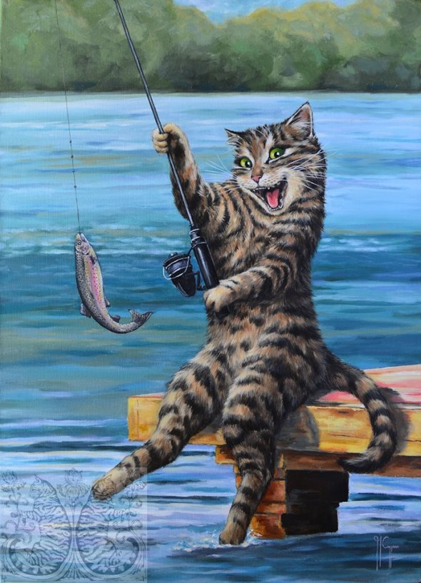 Martine Coppens, cats in art, 13