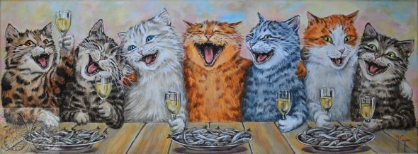 Martine Coppens, cats in art, 14