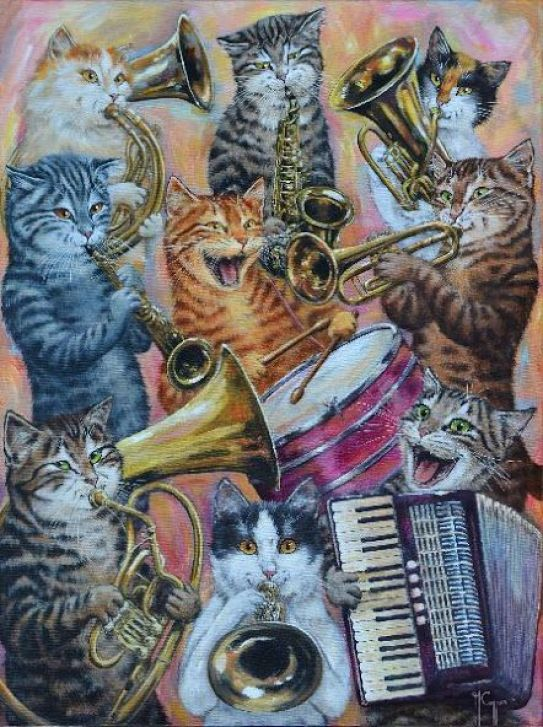 Martine Coppens, cats in art, 17