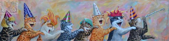 Martine Coppens, cats in art, 18
