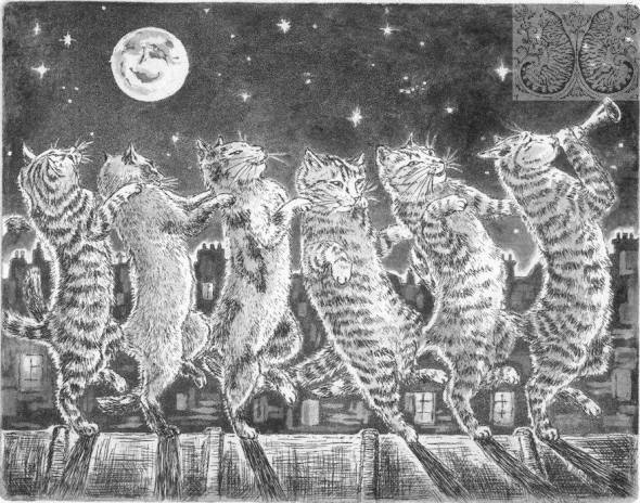 Martine Coppens, cats in art, 2