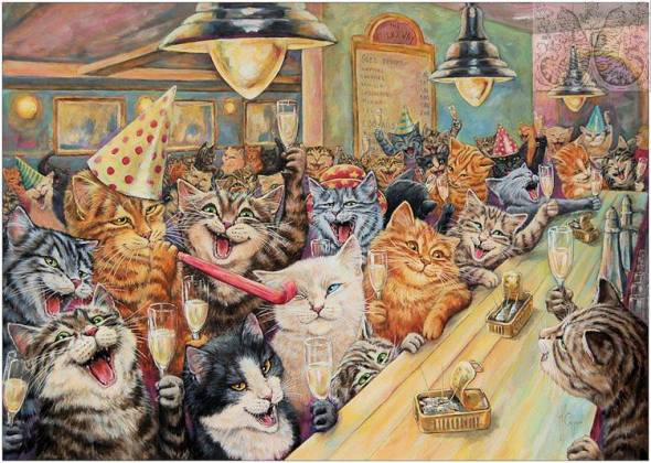 Martine Coppens, cats in art, 22