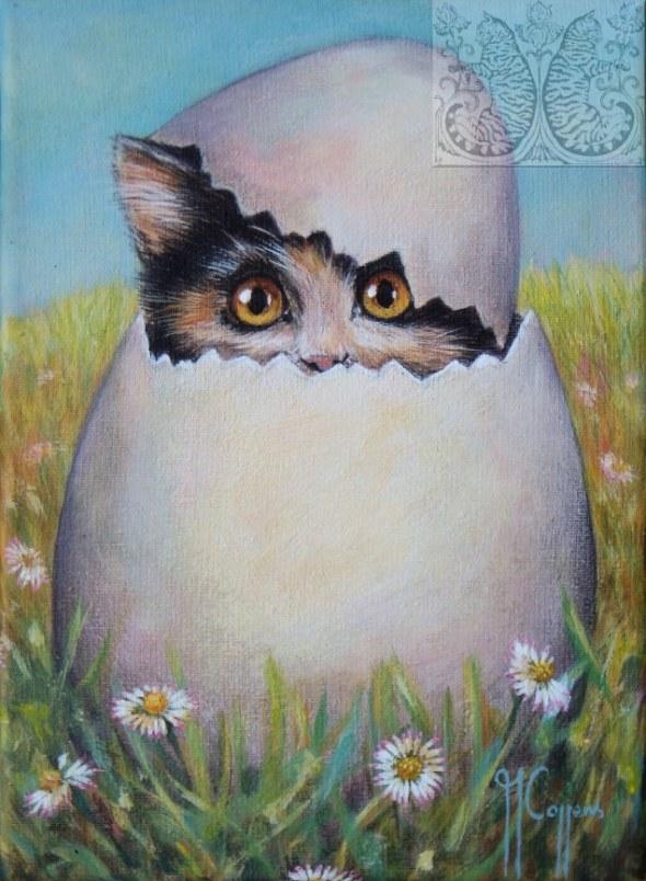 Martine Coppens, cats in art, 6