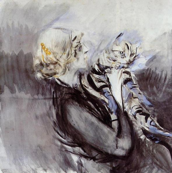 A Lady with a Cat — Giovanni Boldini