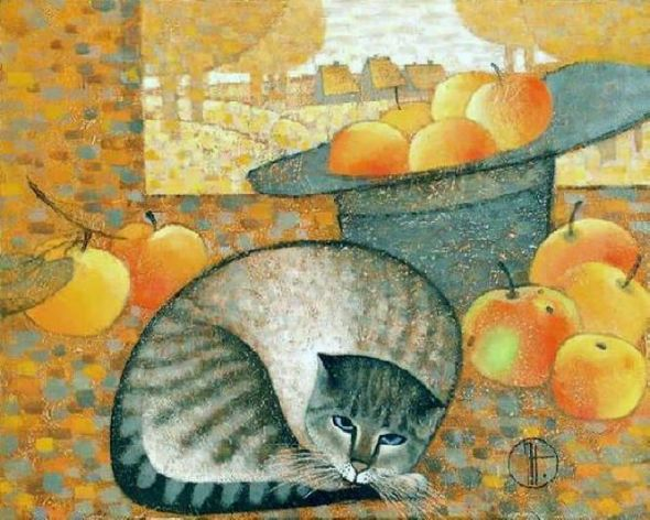 Autumn Cat Natalya Trubina