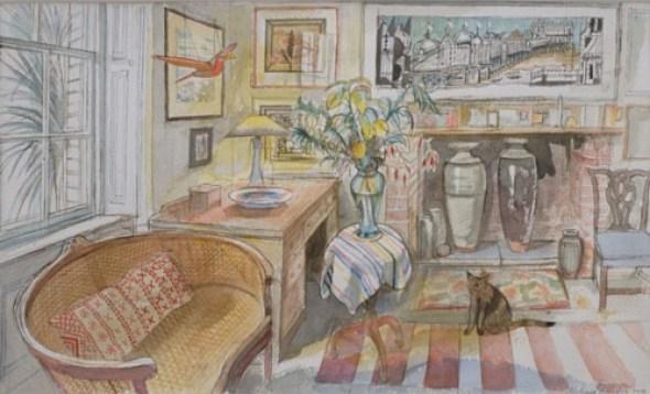 Cat and Cane Sofa  Richard Bawden
