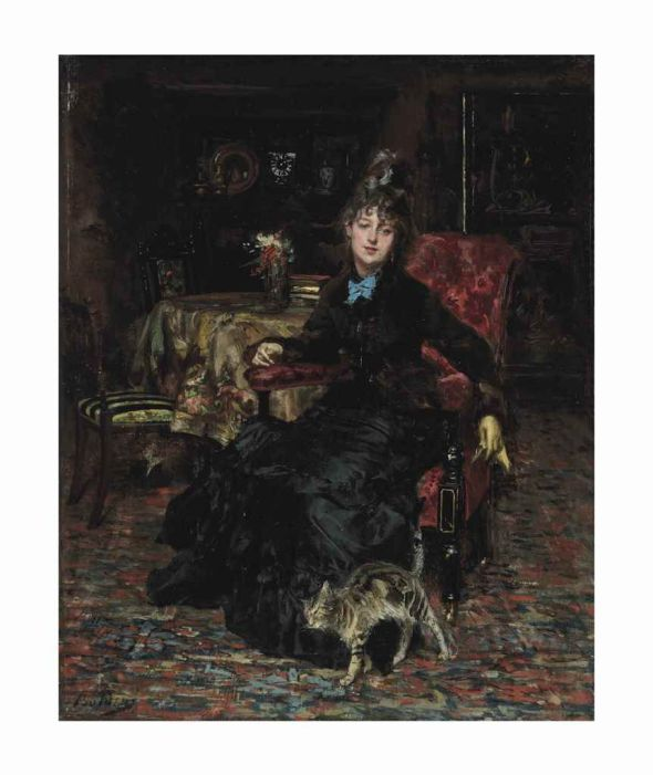 Giovanni Boldini, Lady with a Tabby Cat