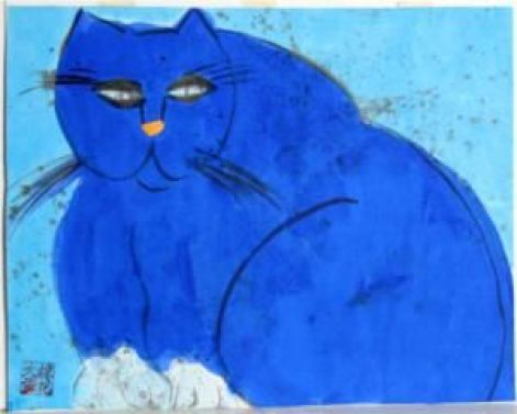 Blue Cat - Walasse Ting 1981