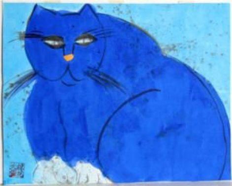 Blue Cat - Walasse Ting 1981