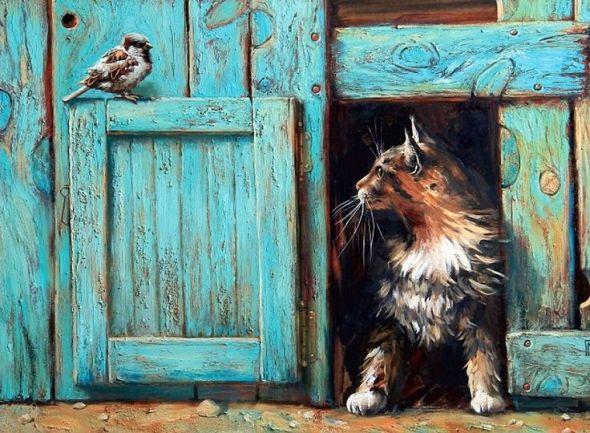 Cat and Bird, Maria Pavlova