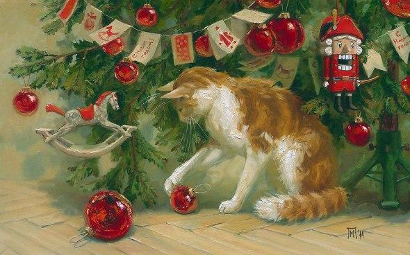 Christmas Cat, Maria Pavlova