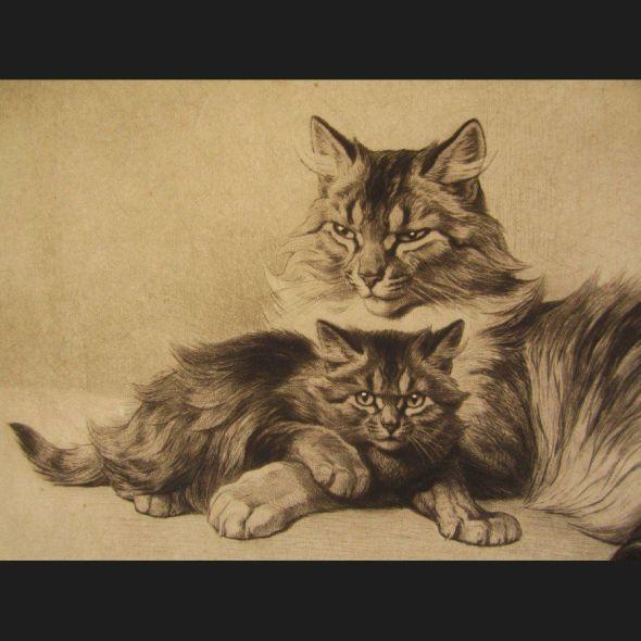 Ferdinand Oger, Mother Cat and Kitten