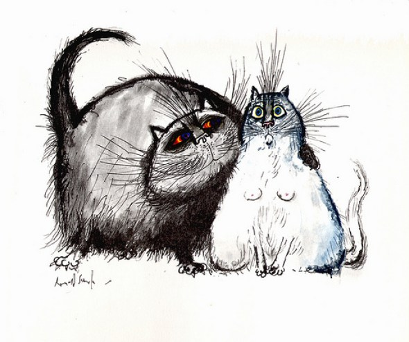 Cats, 1967, Ronald Searle