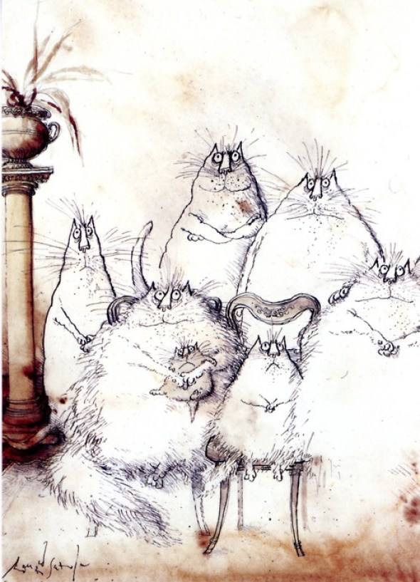 Family Portrait, Ronald Searle