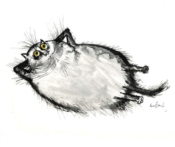 Lounging Cat, Ronald Searle