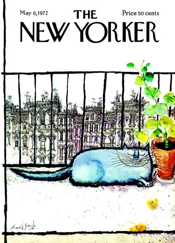 New Yorker Cover, May 1972, Ronald Searle