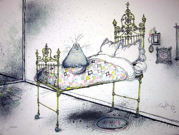 The Cat's Bed, Ronald Searle