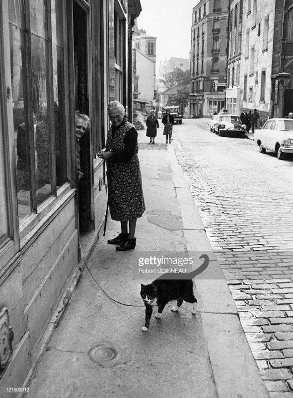 1972 An Old Woman And Her Cat, Robert Doisneau