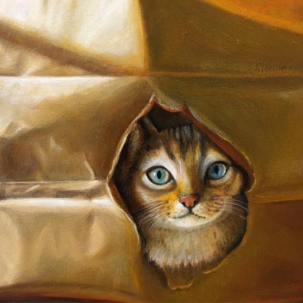 Detail, Cat in a Bag, Karen Hollingsworth