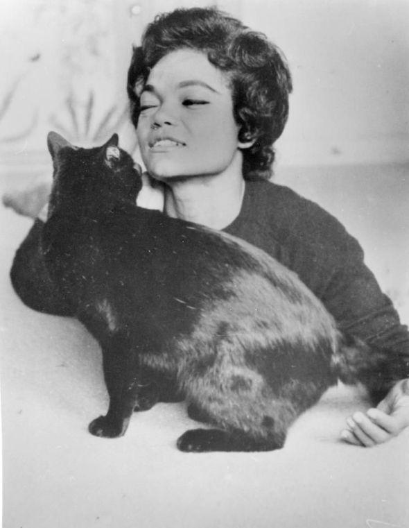 Eartha Kitt and Black Cat