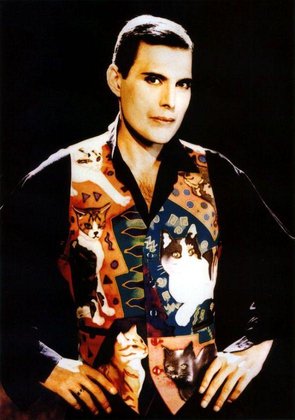 Freddie Mercury wearing Cat Vest