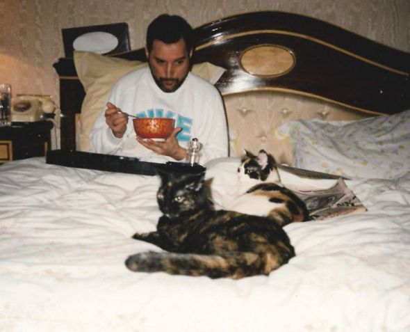 Freddie with Delilah and Miko