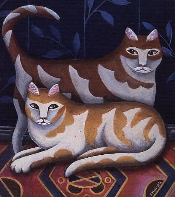 Jerzy Marek, Two Striped Cats