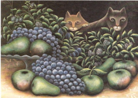 Two Cats and Fruit, Jerzy Marek