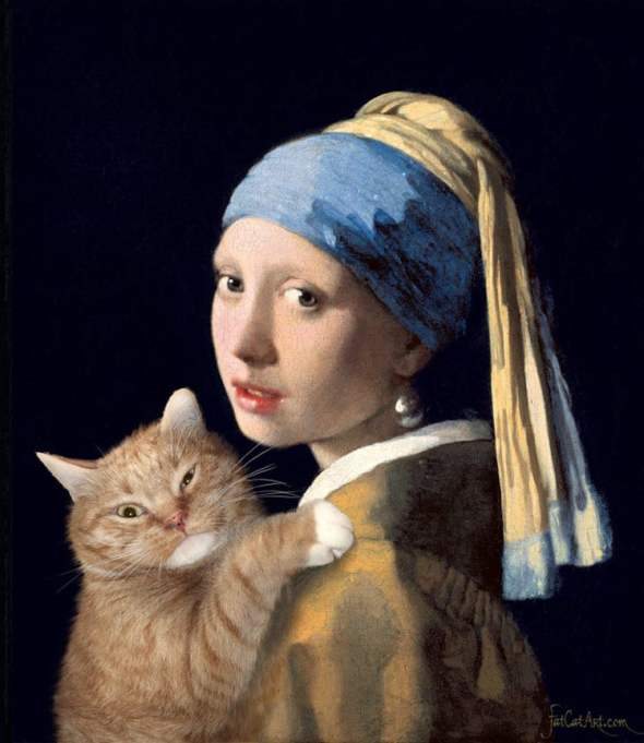 Svetlana Petrova, Fat Cat with Girl with a Pearl Earring