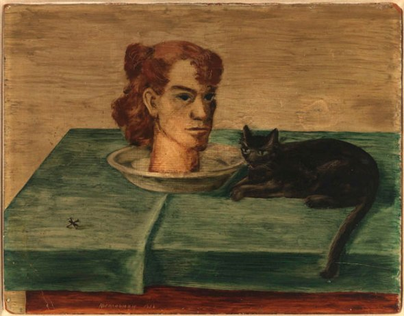 Head on a Plate with Black Cat Abercrombie