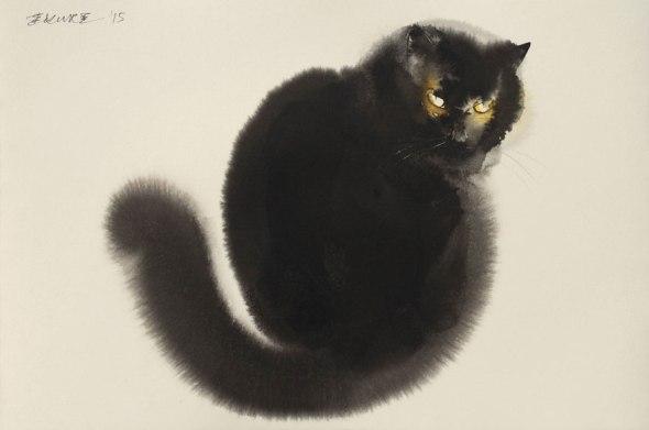 Endre Penovac, Black Cat Looking Back