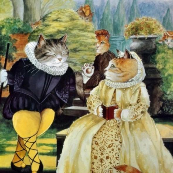 Twelfth Night cat art, cat paintings