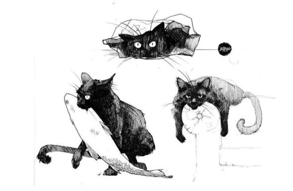 Sketches of cats, Nishida Tadashige