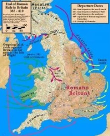 Raids on Britain following end of Roman rule