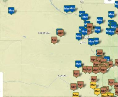 The Central Plains Morel Sightings