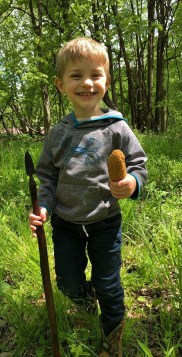 You have to love this young shroomer's hiking stick! (2019)
