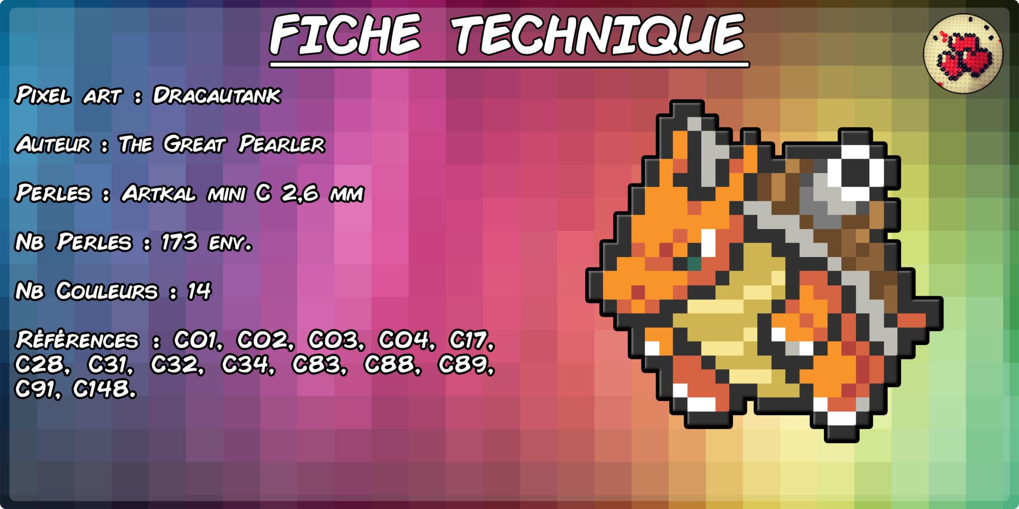 fiche-dracotank-fusion-pokemon-pixel-card-pixelart-pixelcraft-pixelbeads-perlerbeads-perlerart-hama-hamabeads-hamasprites-artkal-artkalbeads-fusebeads-retro-gaming-sprite-design-tutoriel