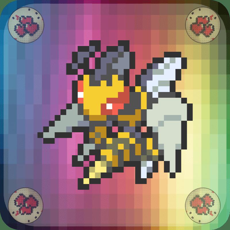 Mega-dardagnan-vignette-pokemon-pixel-card-pixelart-pixelcraft-pixelbeads-perlerbeads-perlerart-hama-hamabeads-hamasprites-artkal-artkalbeads-fusebeads-retro-gaming-sprite-design-tutoriel