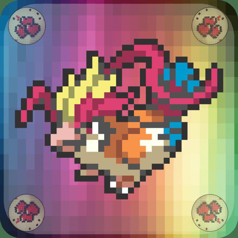 Mega-roucarnage-vignette-pokemon-pixel-card-pixelart-pixelcraft-pixelbeads-perlerbeads-perlerart-hama-hamabeads-hamasprites-artkal-artkalbeads-fusebeads-retro-gaming-sprite-design-tutoriel