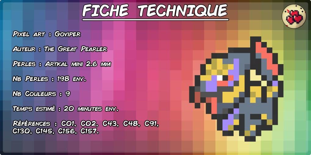 seviper-gobou-goviper-fiche-pokefusion-pokemon-pixel-card-pixelart-pixelcraft-pixelbeads-perlerbeads-perlerart-hama-hamabeads-hamasprites-artkal-artkalbeads-fusebeads-retro-gaming-sprite-design-tutoriel