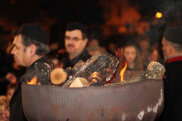 The 'Fanos' - a carnival tradition in Kozani, Greece.