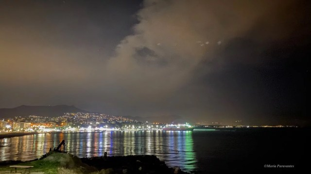 Rafina port by night
