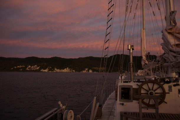 Infinity Expedition-Lovely sunset along the coast of New Zealand