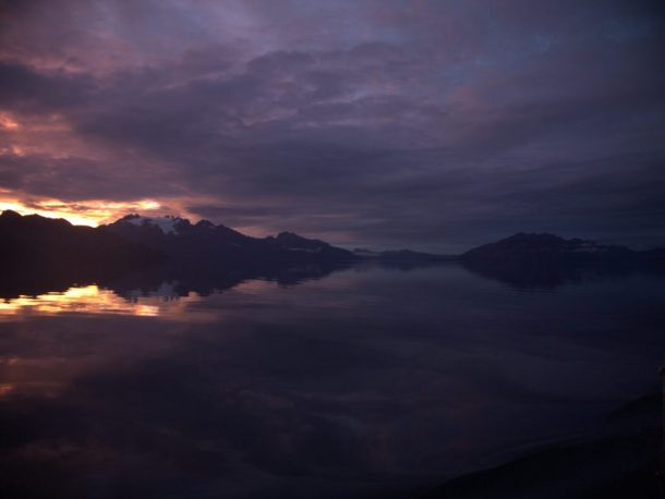 Infinity Expedition - Gorgeous sunrise in the fjords of Chile