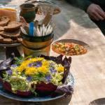 Oerkoken voorbeeld met eetbare bloemen - The Green Circle - Workshops in de Natuur.